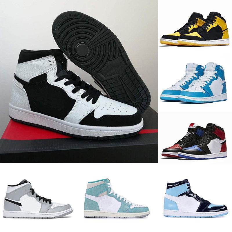 حظرت شيكاغو 1 الأحNike Air Jordan 1 basketballshoes 1 shoes OG الأسود الظل أعلى 3 مصمم رجالي أحذية ميلو العاصفة الزرقاء بارونات الرجال حذاء رياضة مدرب 36-46