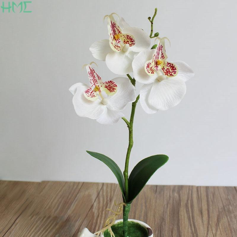 Decorative Flowers & Wreaths Butterfly Orchid Artificial Silk Flower Home Wedding Decor Birthday Party Bridal Floral Decoration Ornamental F