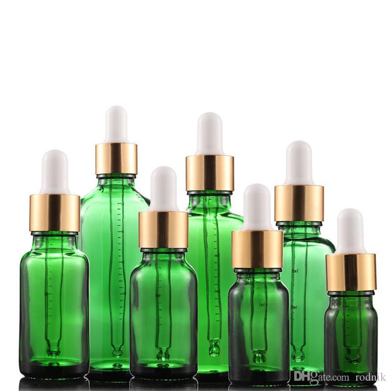 Стеклянная жидкая реактива Pipette 5 мл-100 мл масла ароматерапия 0146pack Esaine капельница глаз парфюмерия бутылки капельницы зеленый оптом Bottl CFFA