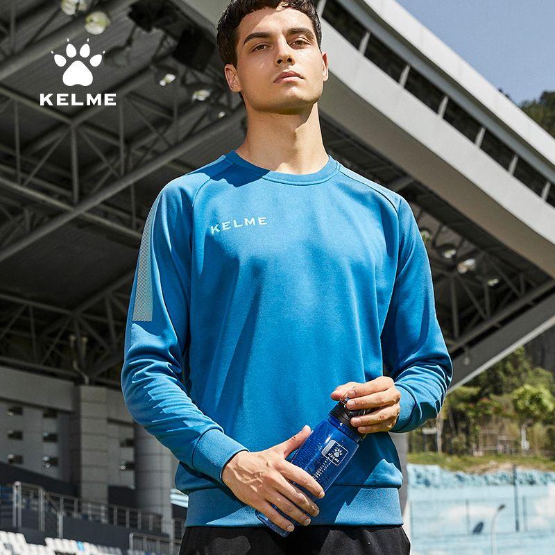 Kelme Rundhals Football Pullover Herren Pullover Langarm Fußball Uniform Herbst- und Wintertraining Anzug Sport Top 201012