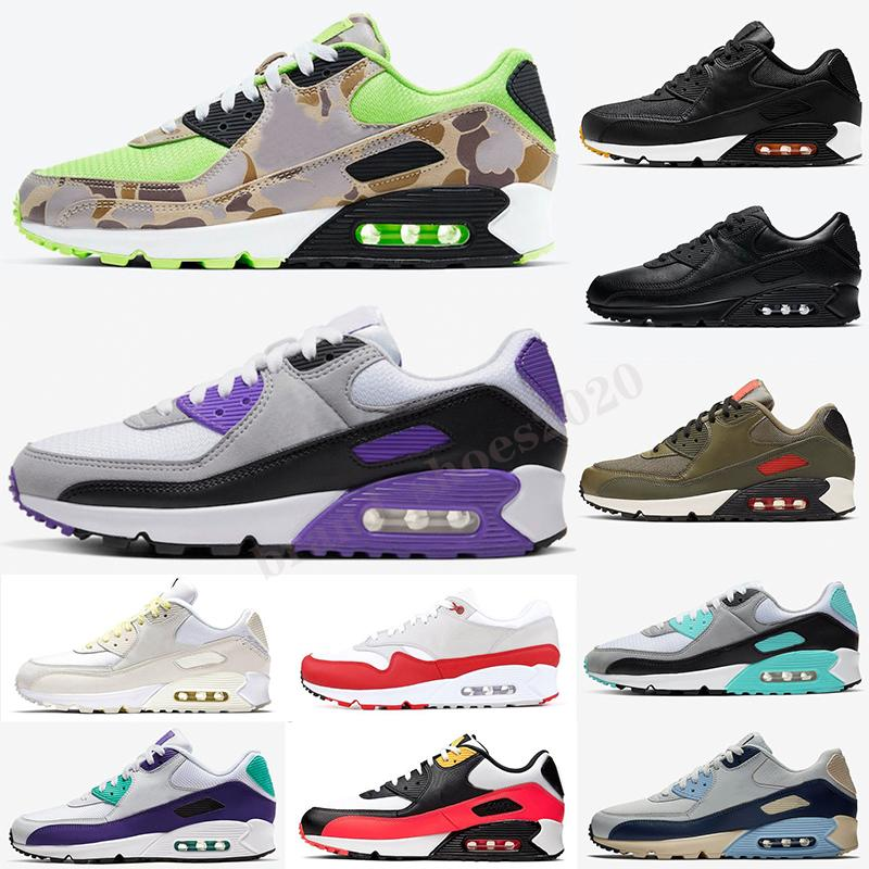Max 90 New Fashion Men Sneakers Shoes Classic Men and Women Shoes Zapatos Deportes Entrenador Cojín Superficie Superficie Zapatos deportivos transpirables