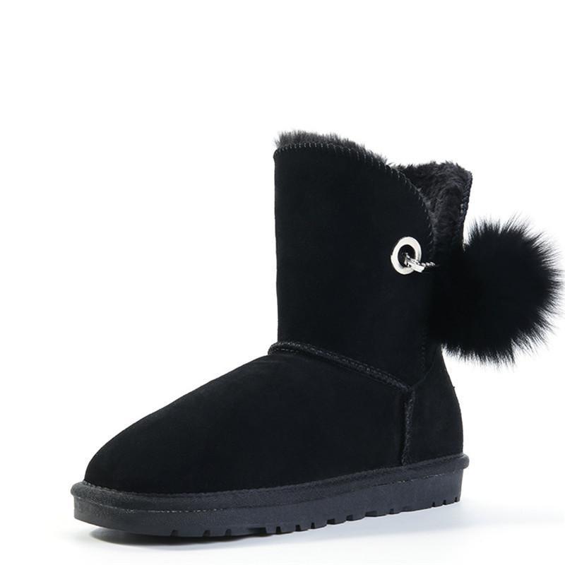Racchette da neve stivali invernali donne del cuoio genuino modo delle donne di alta qualità di marca Snow Boots: Australia Classic Women