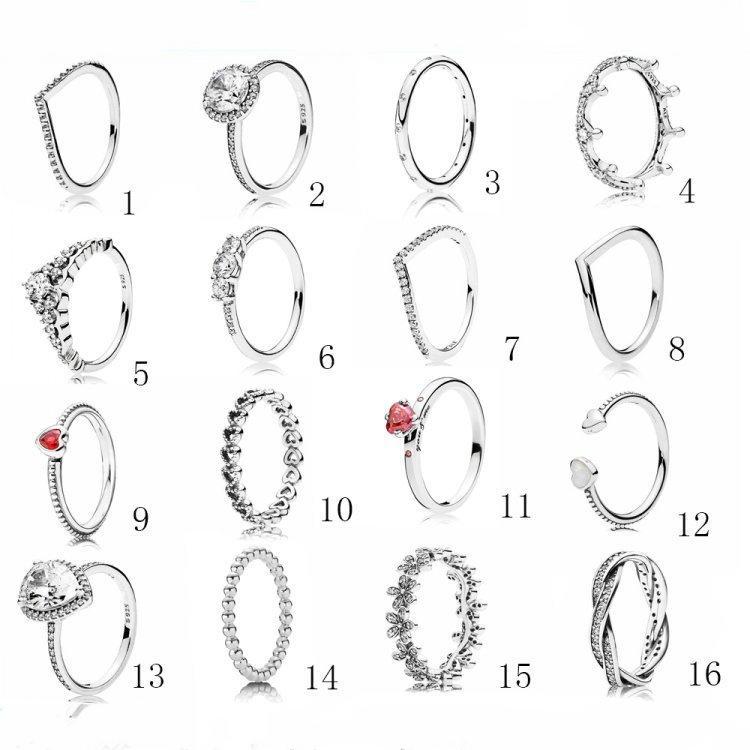 925 Sterling Silber Modeschmuck Frauen Ringe Ringe Diamant Ring Hochzeit Verlobungsring Für Frauen