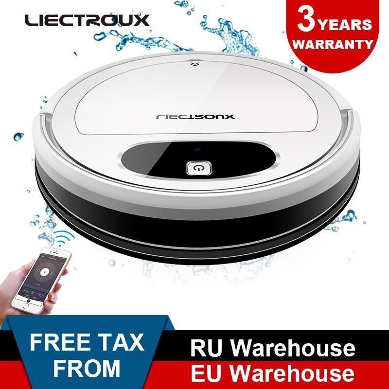 Aspirapolvere del robot Liectroux 11S, app WiFi, navigazione della mappa Gyroscope 2D, serbatoio dell'acqua della pompa dell'aria di controllo elettrico, pulitura a secco bagnato