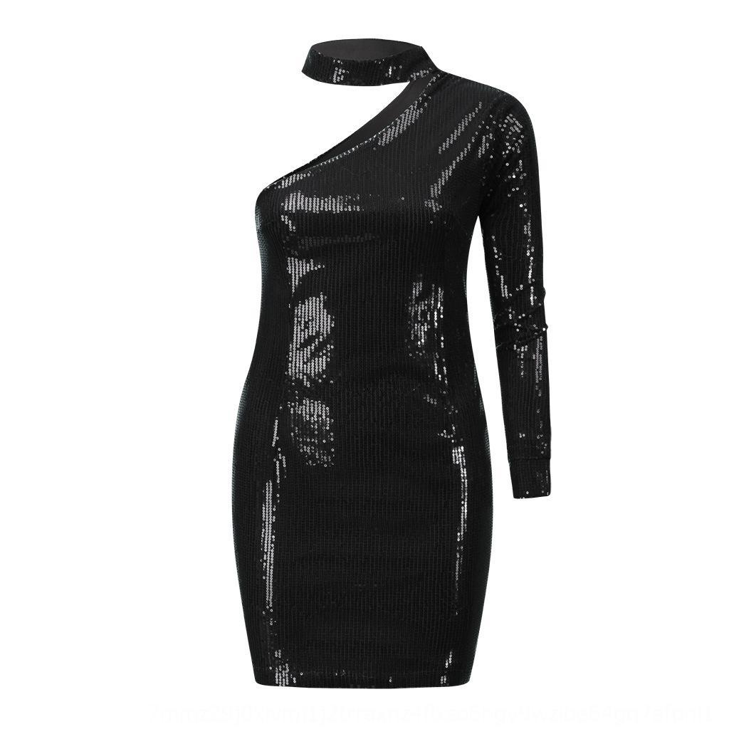 LVYW Femmes Fashion Robe Lettres Imprimer Lettre d'automne Hiver Robe pour femmes à manches longues imprimées à manches longues et sans navire