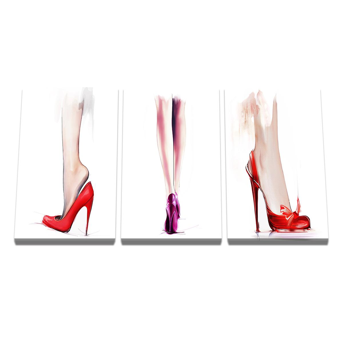 High Heels Poster Print Wall Art Canvas Painting Picture Living Room Bedroom Dining Room Hanging Painting
