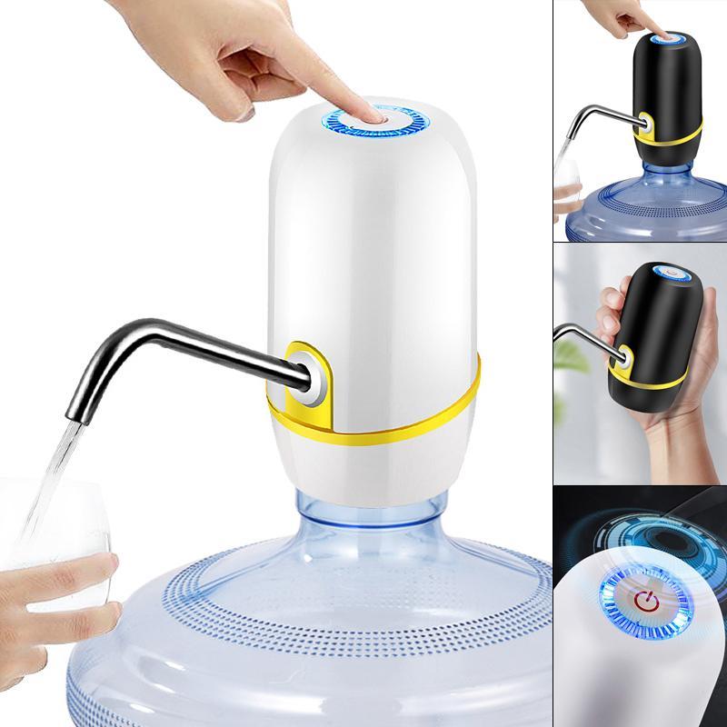 Pompe à eau de distributeur électrique rechargeable à écran tactile portable avec câble USB / bleu / 304 tube en acier inoxydable Y200107