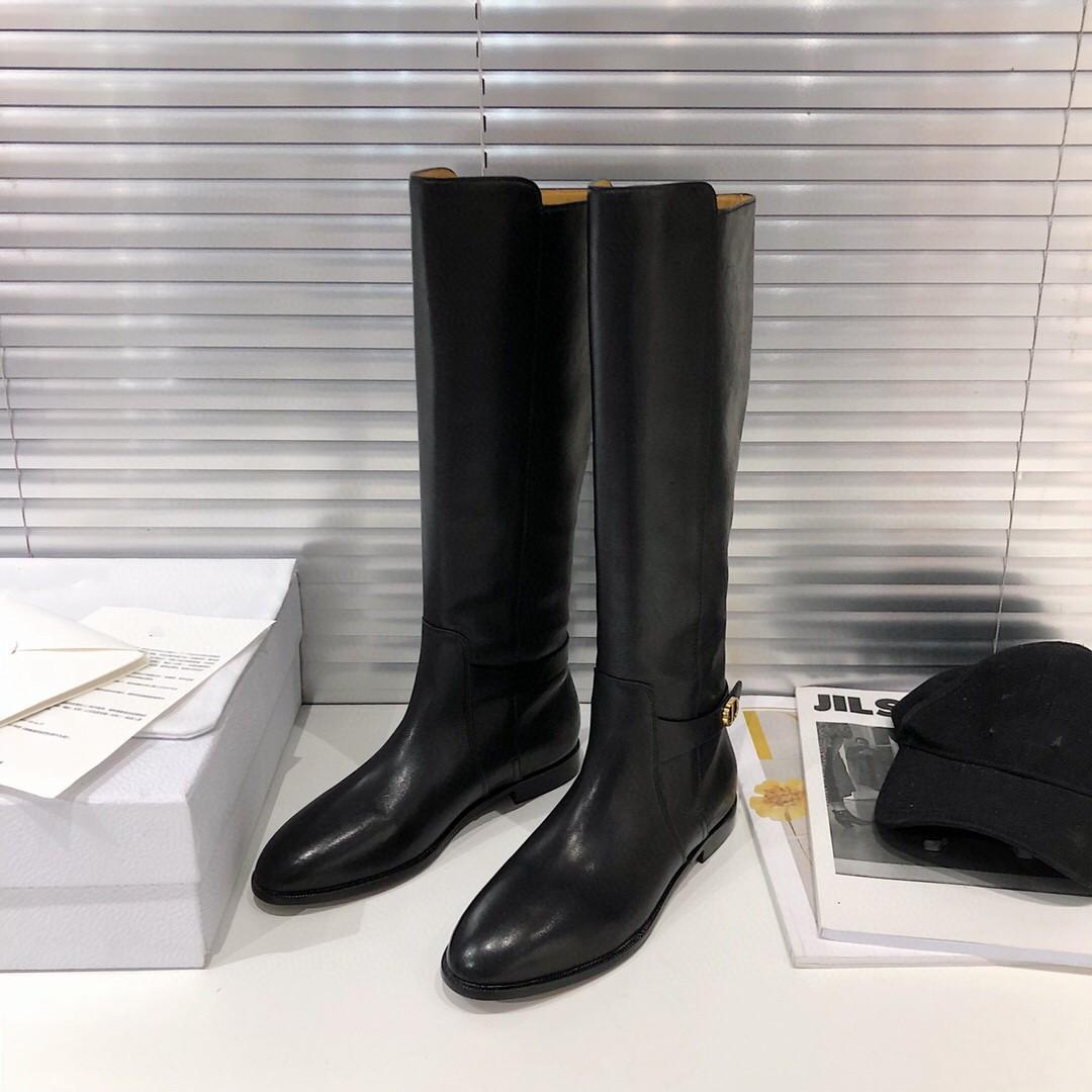 gündelik düz dipli moda İngiliz tarzı yakışıklı şövalye Martin botları tokası Sonbahar ve kış bayanlar siyah deri kısa tüp CD mektup