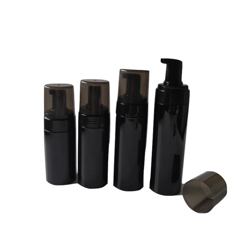 100ML 150ML 200ml في 120M فارغة موس رغوة زجاجة زجاجات الأسود الصابون السائل موزع مضخة لإعادة الملء اليد شامبو قشتالة