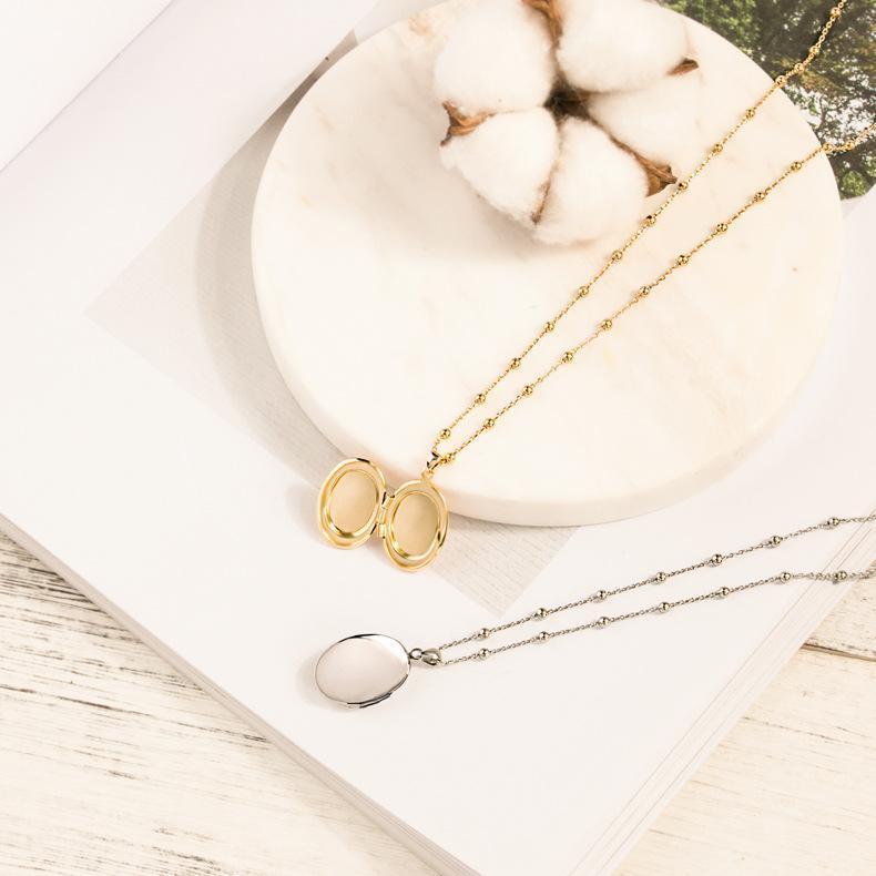 Peut ouvrir la boîte pendentif collier femmes délicates perles de la chaîne de la chaîne collier pour femme bijoux cadeau