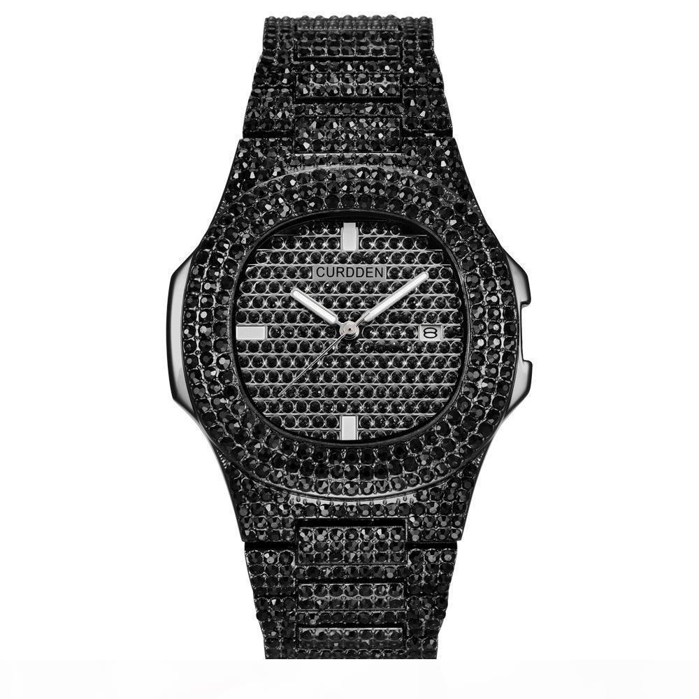 Iced Out Uhren Frauen Hip Hop Bling Diamant Herren Business Watch Edelstahl Heiße Mode Damen Armbanduhr Weibliche Uhr Mann CX200720
