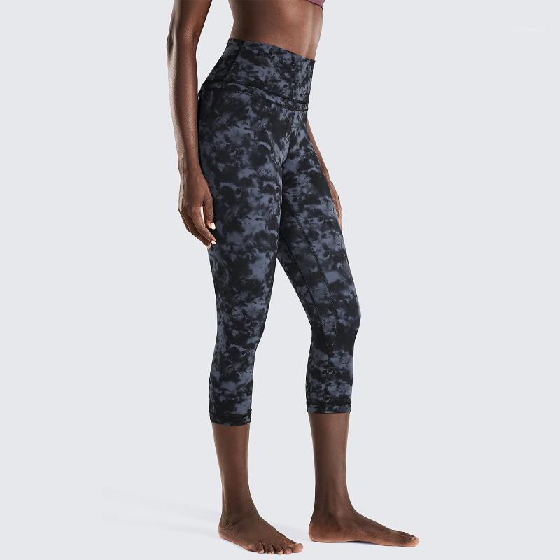 Outsits outfits outfits Женская голой Чувства Высокая талия Capri Tummy Control Беговые Леггинсы Брюки -19 дюймов1