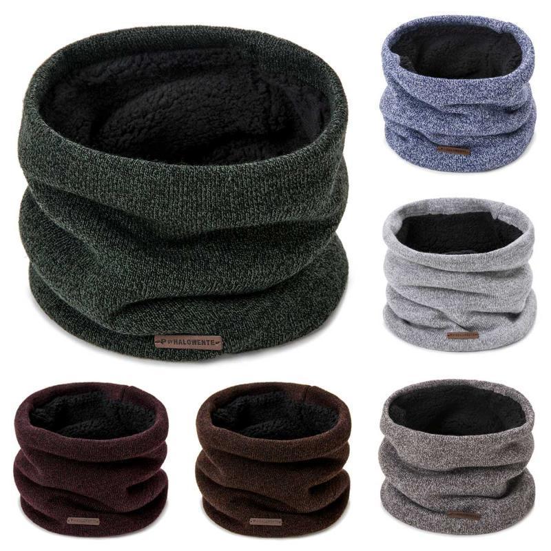 Collare Evrfelan Uomini Knit collo di inverno donne sciarpa spessa Warmer sciarpe inverno Snood sciarpa elastica e flessibile Anello Sciarpe Unisex