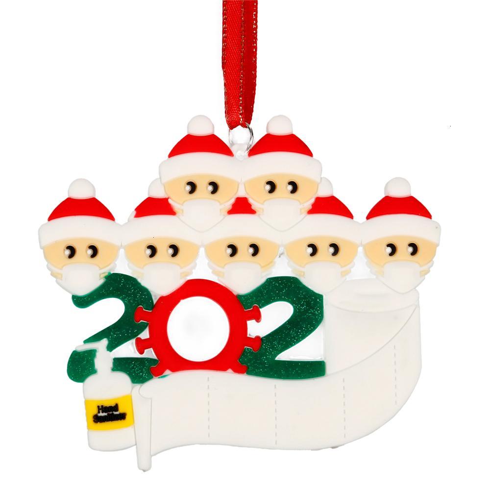 Factory3Fl8Gift 2020 Nouvelle décoration Quarantaine Anniversaires de Noël Anniversaires Partie Produit Personnalisé Pandémie d'ornement suspendu Pandémie -Sociale Dis
