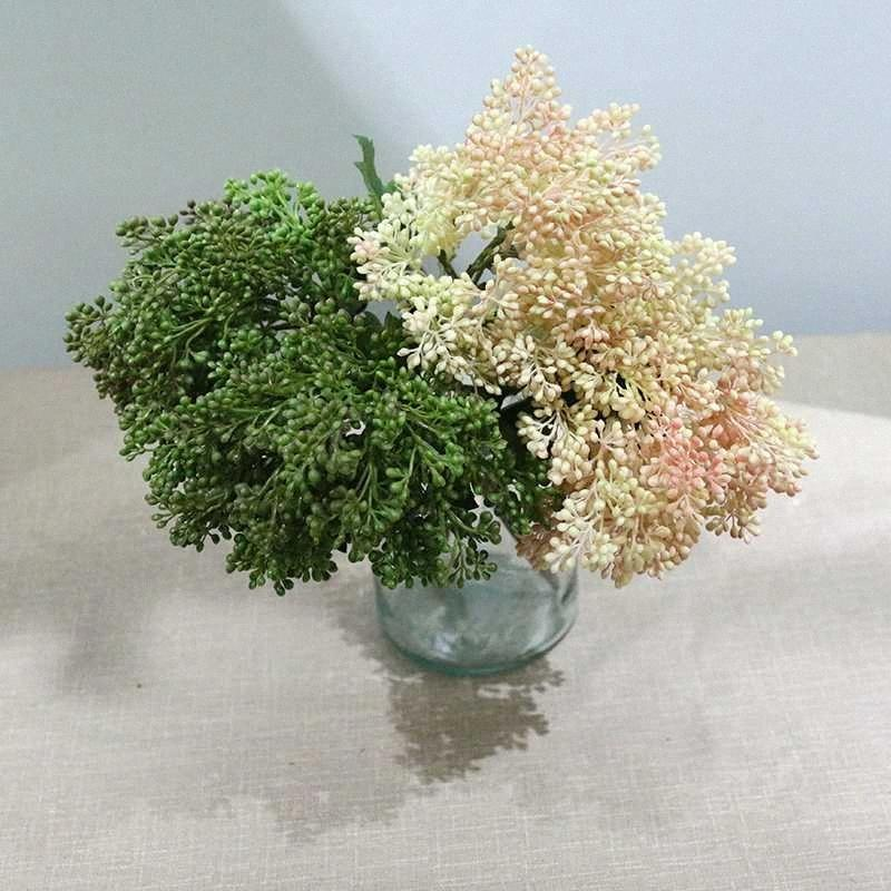 Künstliche Blumen Falsch Babys Atem Gypsophila Hochzeit Dekoration Geburtstag DIY Foto Props Blumen-Köpfe Zweig yCes #
