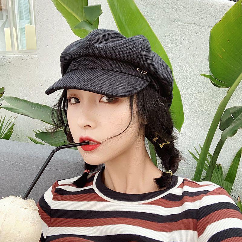 70% de desconto new ins Octogonal chapéu mulheres outono inverno boina