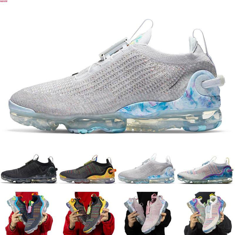 Nike Air VaporMax 2020 FK 2020 venda quente Fly 2.0 II Knit FK Sapatos Masculinos Oeste Lazer sapatos preto branco Casual respirável Sneakers Tamanho 36-46