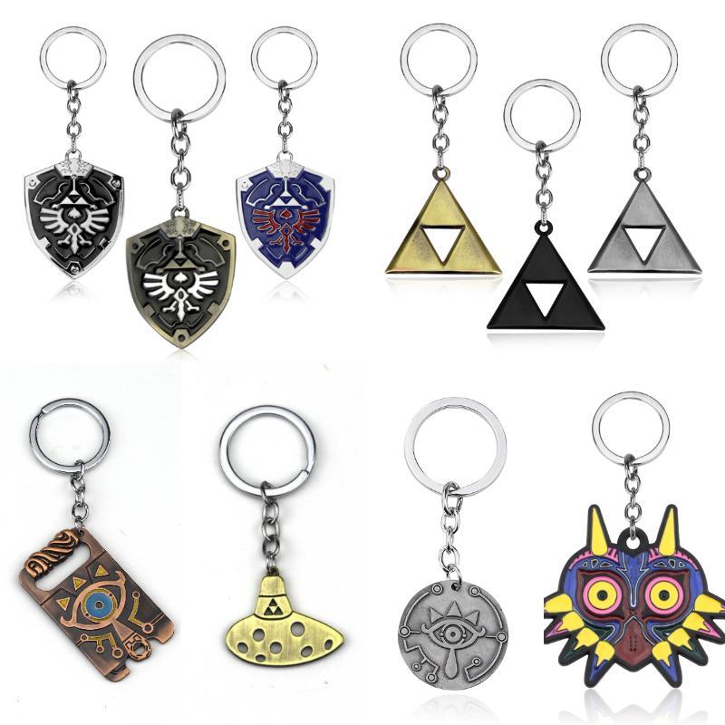 Erkekler için Zelda Hylian Shield Anahtarlık kolye Anahtarlık Usta Kılıç Majora Maske Nefes Yabani Göz Chaveiro Legend
