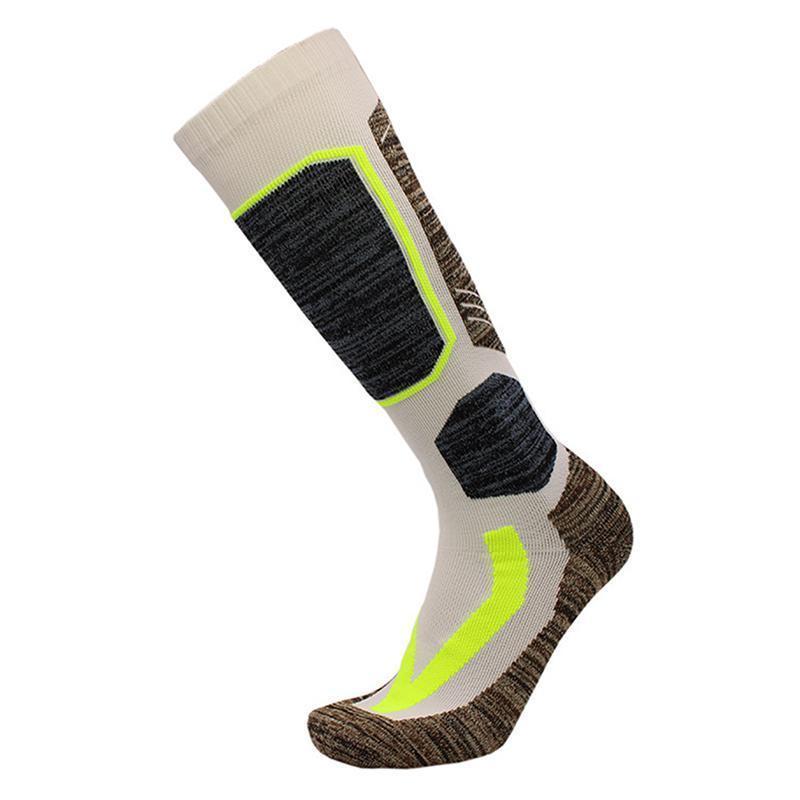 الجوارب الرياضية يمتص تنفس سماكة التهوية الدافئة متماسكة الركبة عالية الأداء التزلج ركوب الدراجات تسلق في الهواء الطلق لينة