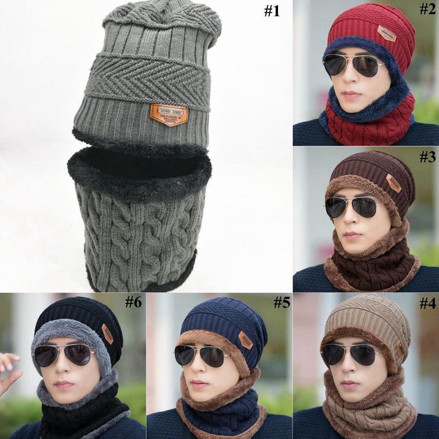 Hommes Bonnet Soft Femmes hiver Chapeau chaude chaude avec écharpe Enfants Sport extérieur OOA7310