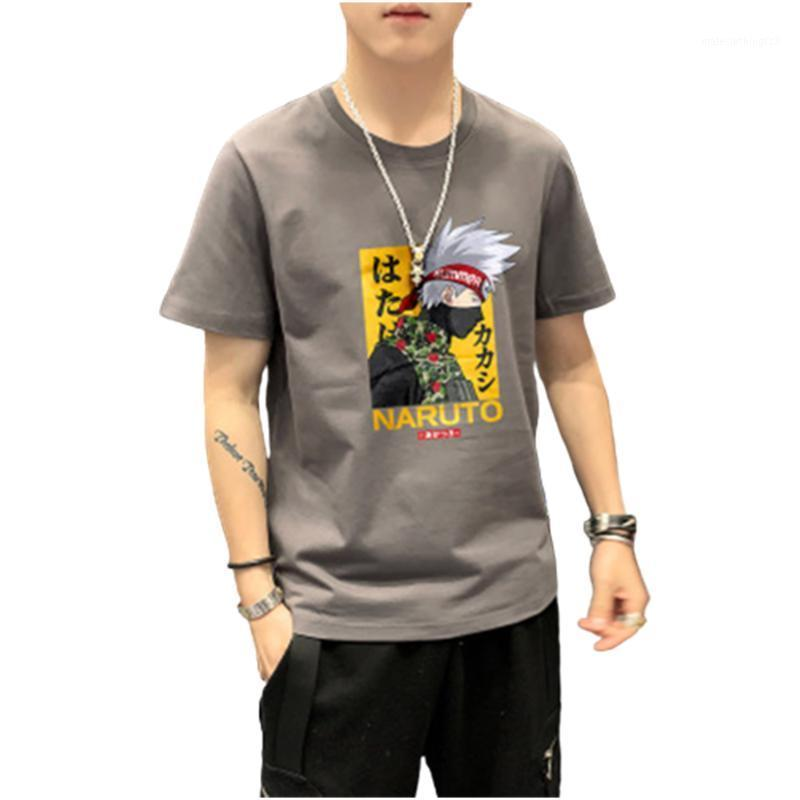 Naruto Harajuku Camiseta de manga corta para hombre Camiseta de algodón para hombre Anime japonés Ropa de calle divertida de gran tamaño1