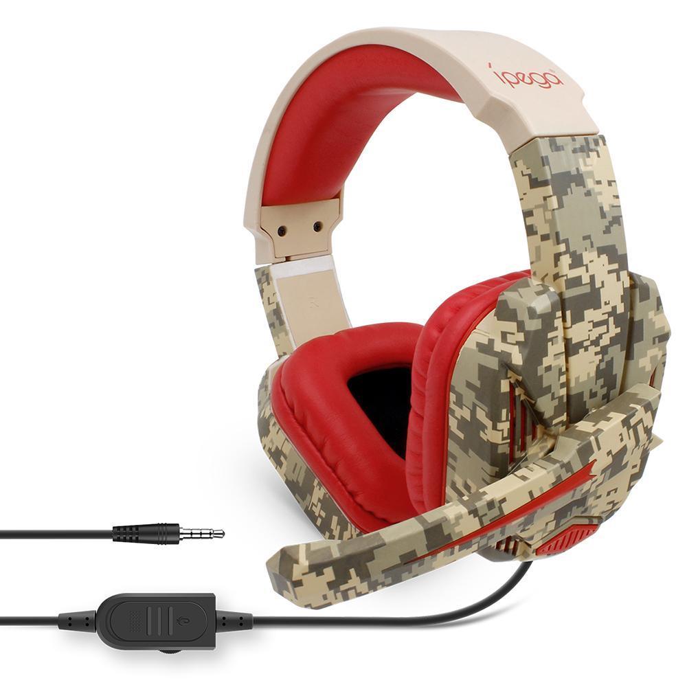 IPEGA PG-R005 سماعة الألعاب سماعات رأس الصوت المحيطي مع زاوية ميكروفون قابلة للتعديل للكمبيوتر الشخصي PS4 Xbox One Cellphone
