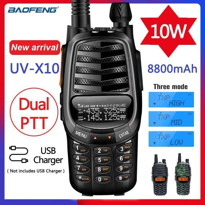 New BaoFeng UV-X10 10W 8800mAh 2-PDual Band VHF UHF USB Charger Walkie Talkie Ham CB Portable Radio Transceiver UV-5R UV-821
