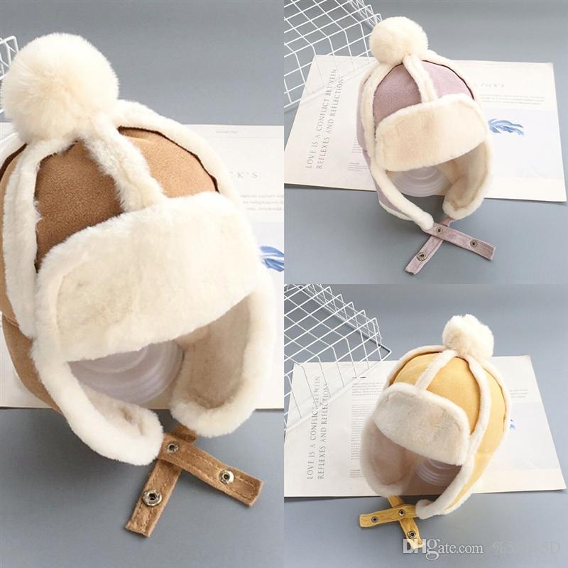 WZ6 çocuk süet kulak koruma kap erkek ve kız çocuklar için çocuk süet kulak şapka kulak çekimleri ile kulak çekimleri ile şapka