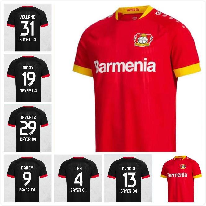 Top Thail 20 21 Leverkusen Fussball Jersey Home L.Bender 2020 2021 Bayer Leverkusen Jersey Havertz Demirbay Alario Volland Herren MAILTOT DE FOOT