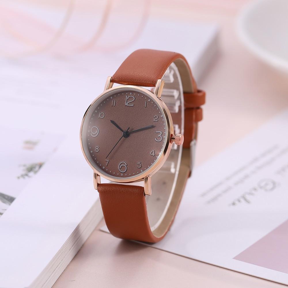 Haute Qualité 2020 Style de mode de style de mode de luxe Strap en cuir analogique Quartz Montre Gold Dames Watch Dress Dress Reloj Mujer Perfect Horloge