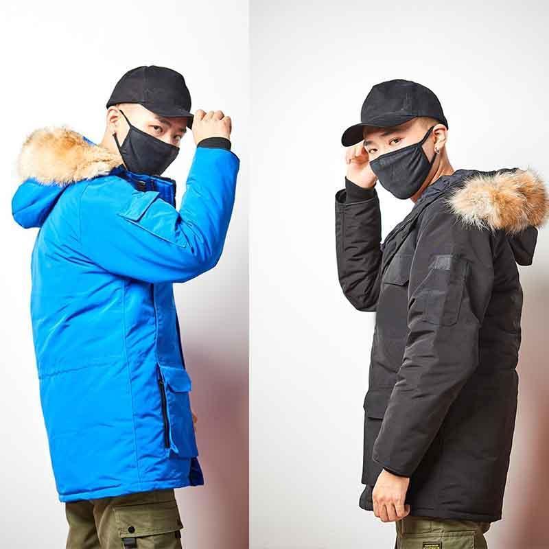재킷 아래로 100 % 실제 늑대 모피 겨울 자켓 남성 슈퍼 겉옷 큰 모피 후드 남자 다운 파카 남성 다운 코트 4 스타일을 선택 따뜻하게