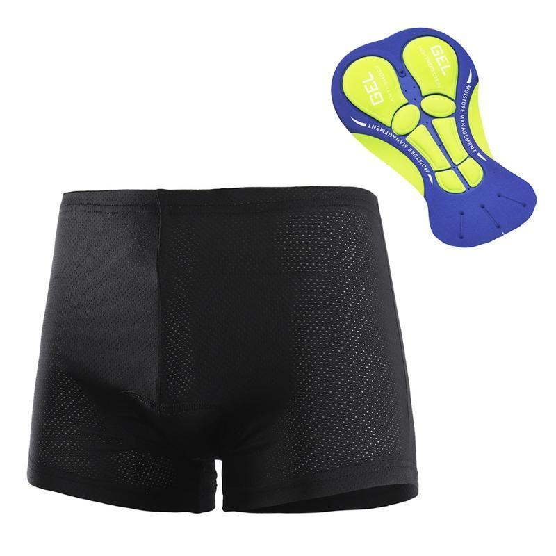 La ropa interior de ciclo Arsuxeo los hombres respirables 3D gel acolchado para bicicleta Pantalones cortos Pantalones cortos de ciclista