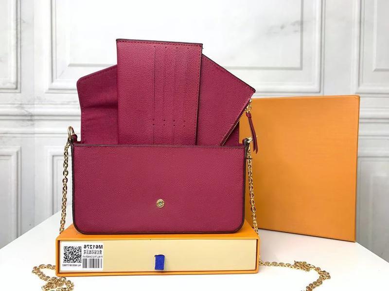 Klassische neue Handtasche Tasche Frauenprägen echtes Leder Handtaschen Schulter Crossbody Vintage Clutch Tote Messenger Einkaufsbügel mit Kasten