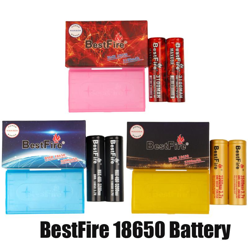 BestFire BMR IMR 18650 배터리 3100mAh 3200mAh 3500mAh 충전식 리튬 Vape 상자 모드 포장이있는 배터리