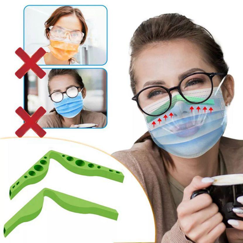 Anti Sis Burun Köprüsü Şerit Silikon Maske Burun Şeridi Sisleme DIY Koruma Aksesuarlarından Gözlük Önlemek Bireysel Paketlenmiş HA1646