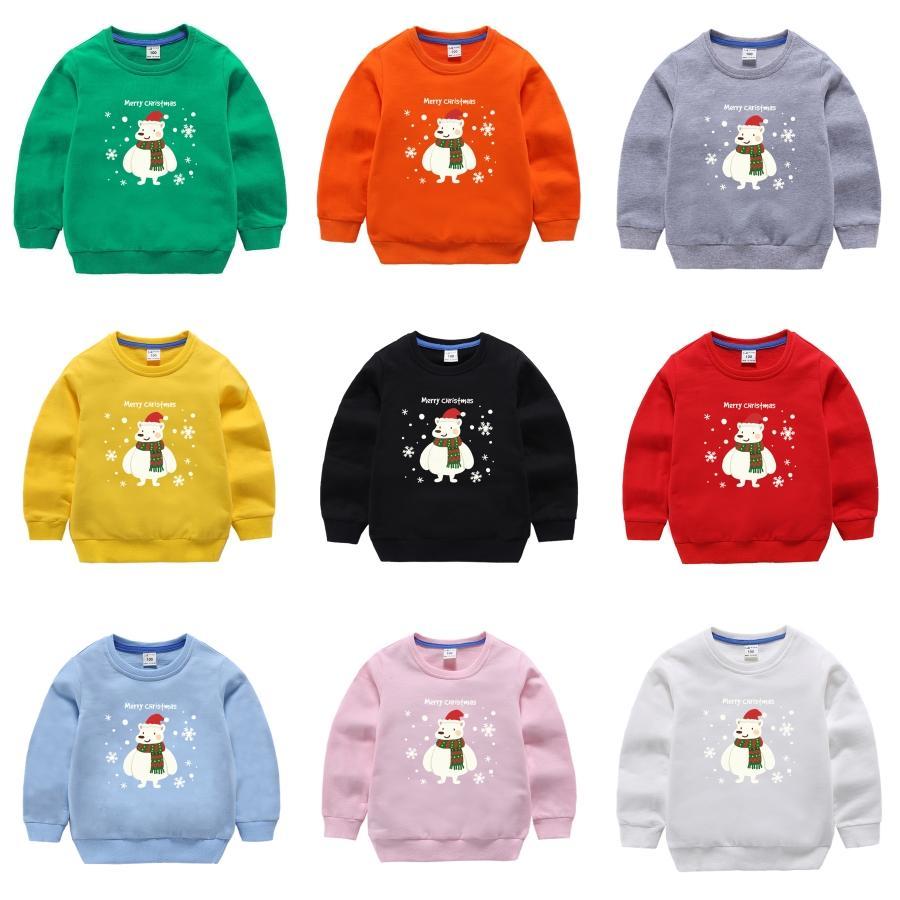 Childs Maglione con cervi autunno di nuovo stile del collo dell'uomo maglione di lana di Natale del fiocco di neve dei cervi Stampa morbida Pullover Moda Bambino # 957