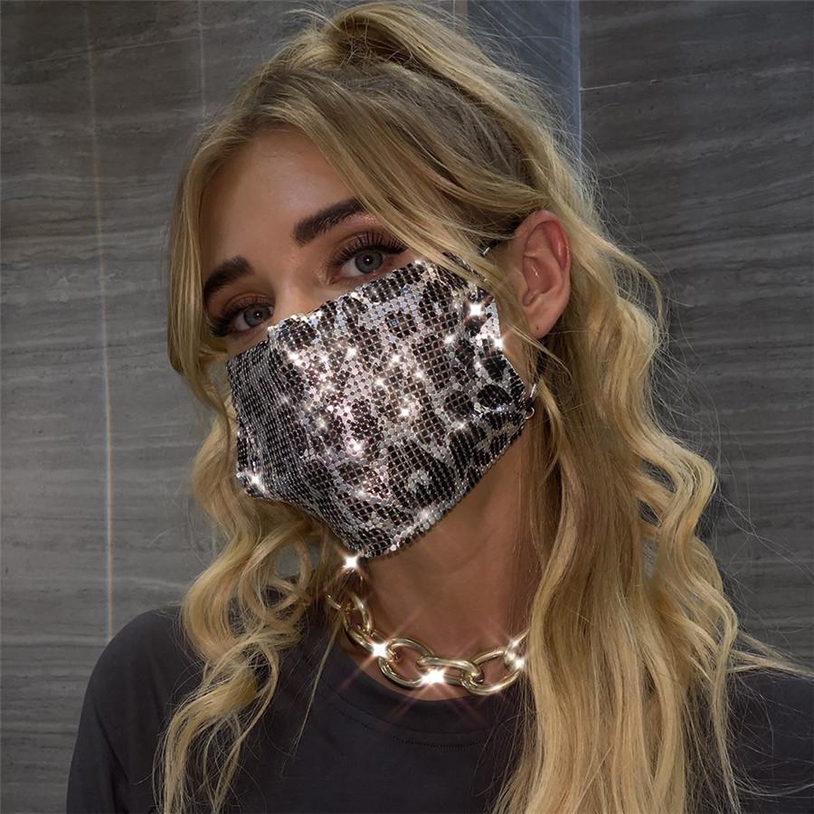 Мода Ювелирные Изделия Красочные блестки Bling Bling Mask для украшения лица Аксессуары Ночной клуб Лицо Украшения Подарок