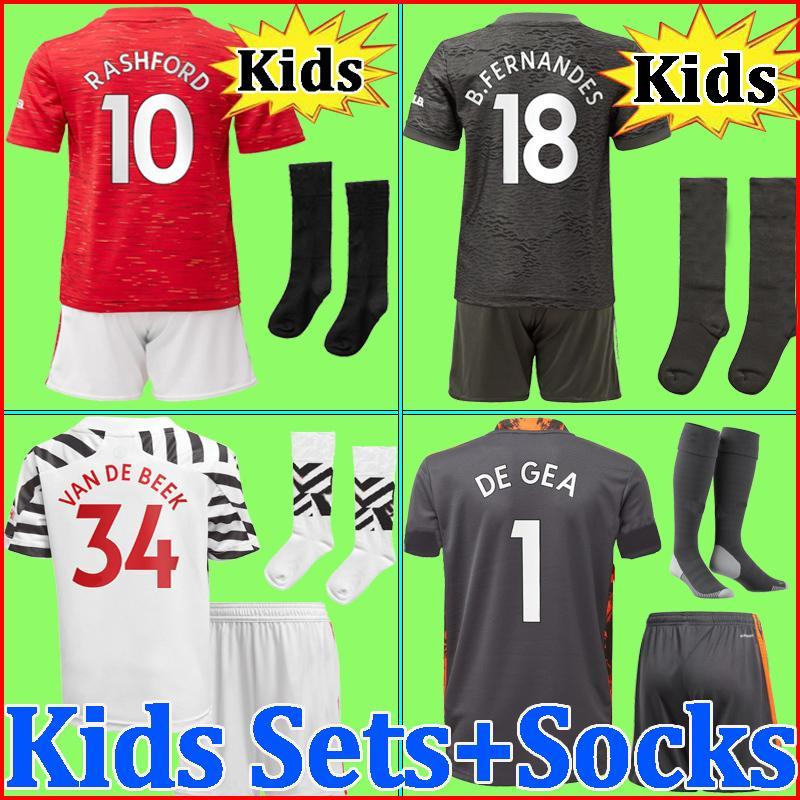 top thailand quality 20 21 Kids sets with socks fotball soccer jerseys 2020 2021 home away boys youth kits kits
