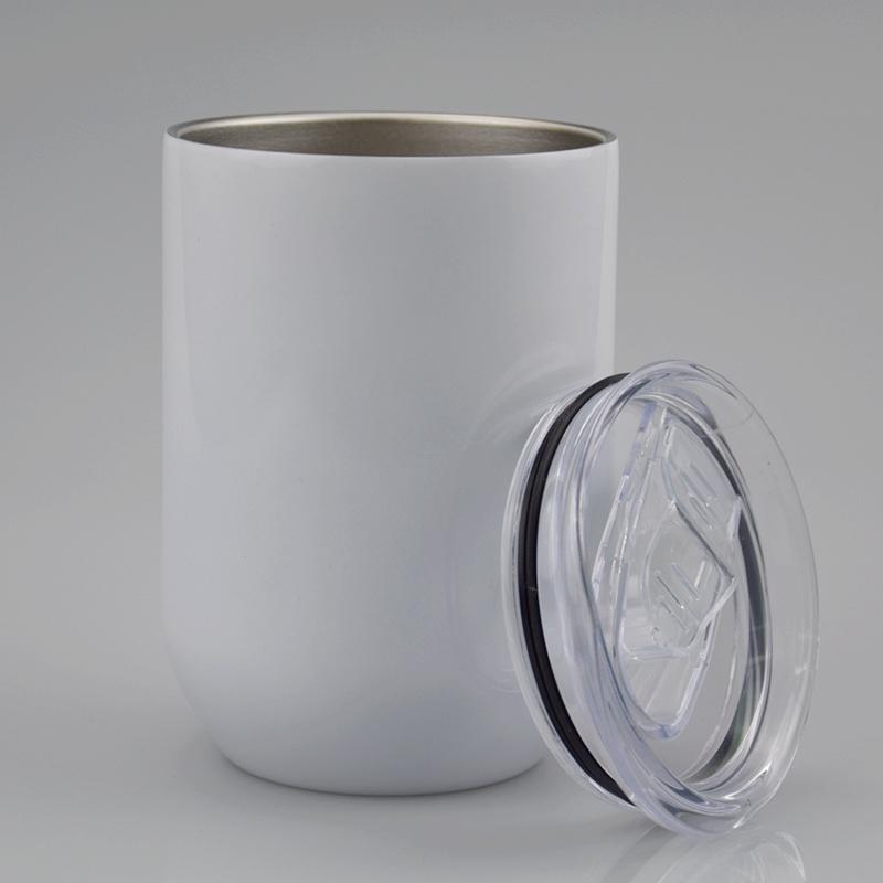 12oz sublimação tumblers tumblers copos de vinho em linha reta ovo em branco em forma de vazios podem brinquedos de água de aço inoxidável DIY