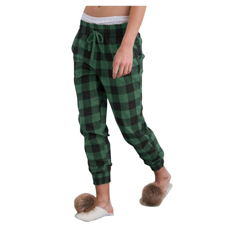 2021 Calças camisetas Sleepwear Pijama Primavera Outono senhoras Manta Pants Pants Mulheres Solto Sleep Bottoms Feminino Plus Size