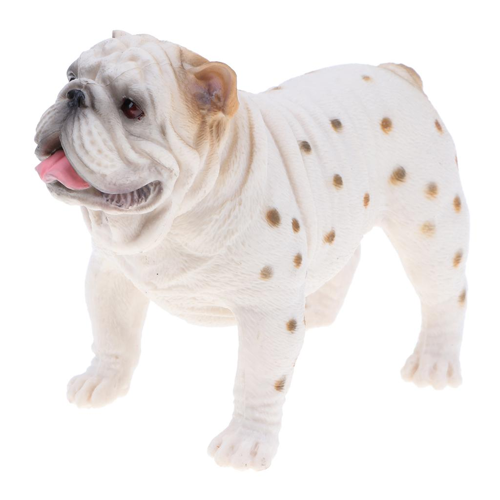 3.7 \ '\' Beyaz İngiliz Bulldog Eylem Şekil heykelcik İçin Çocuk Ve Bebekler, Eğitim Oyuncak, Doğum günü Sunar
