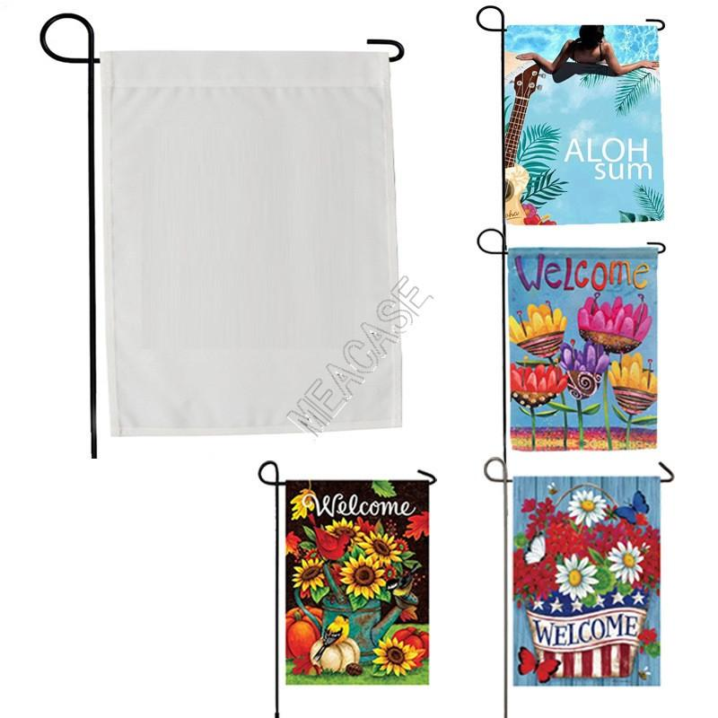 ublimation Polyester fiber blank garden Flag for Valentine's Day Easter Day hot transfer printing Banner Flags consumables 30*45cm D102904