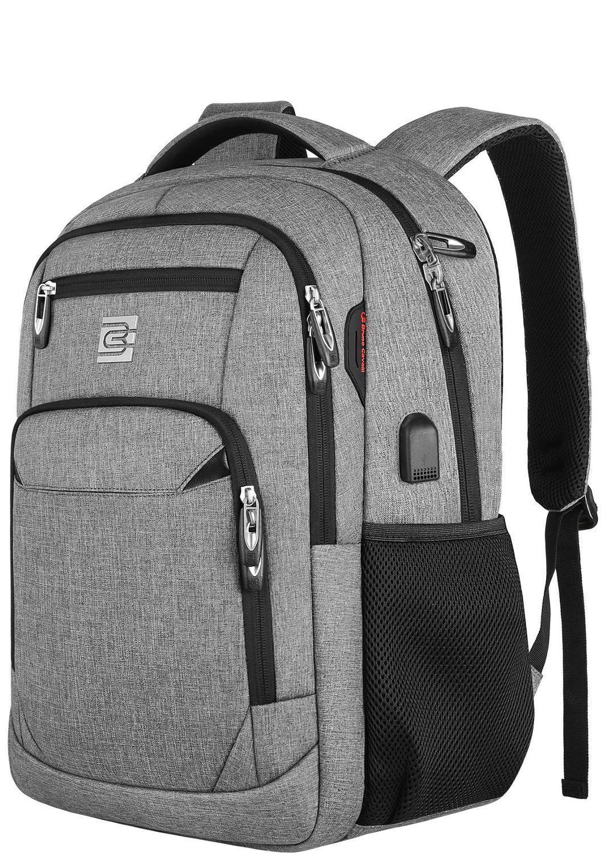 Laptop-Rucksack 15.6 Unisex passend für Zoll Geschäftsreisen Anti-Diebstahldiebstahl dünnes robustes Rucksack mit USB-Ladeport-Wasser-Schultasche 201119