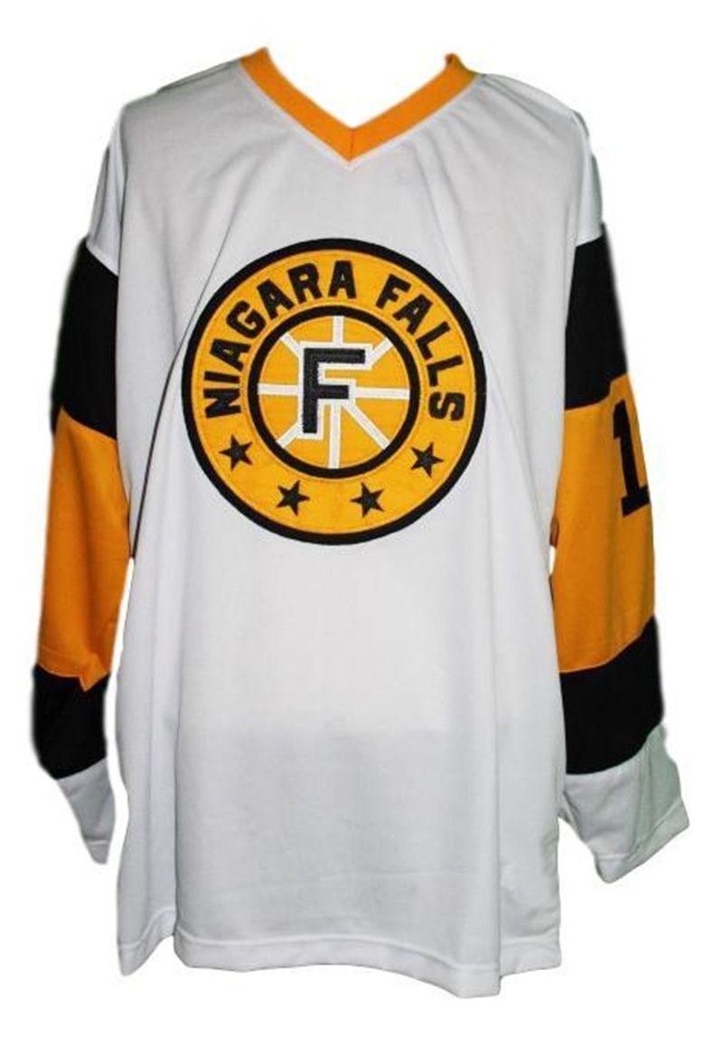 Con nome a # Cascate del Niagara Flyers Retro hokey Jersey New White # 19 qualsiasi formato ricamo cucito Personalizza qualsiasi numero e il nome Jersey