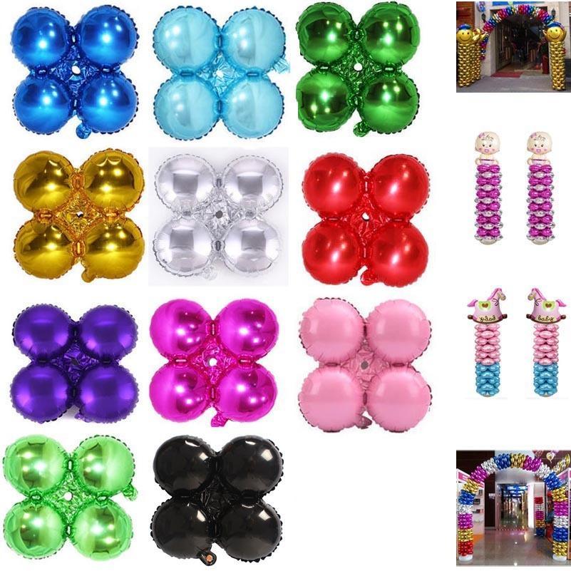 Hoja pétalo globos evento fiesta decorciones columna arco globo flor trébol forma 18 pulgadas de aluminio lámina balón envío gratis