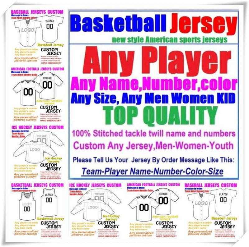 Пользовательские баскетбольные бейсбольные хоккей хоккей американский футбол для мужчин Женщины молодежь College Color Maillot de France Jersey Blue 4XL 5XL 6XL