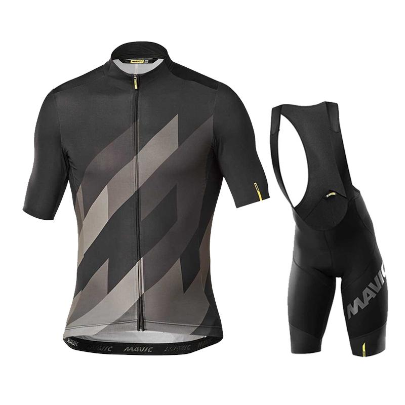 2020 Team Mavic Cycling Jerseys Bike Wear Abbigliamento Quick-Dry Bib Gel Set Abbigliamento Ropa Ciclismo Uniformi Maillot Sport Wear C0123