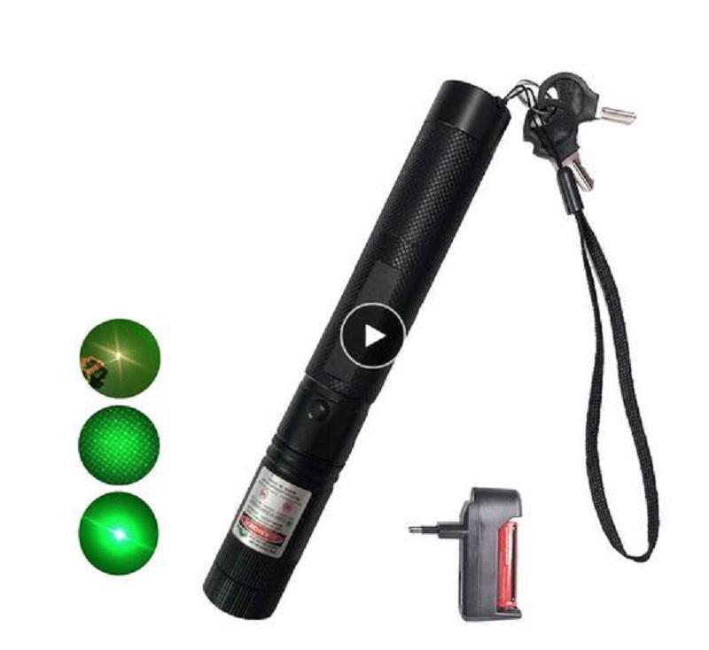 Мощный 10000 м 532 нм Зеленый лазерный прицел Лазерная указка Мощный регулируемый фокус лазевой с лазерной ручкой