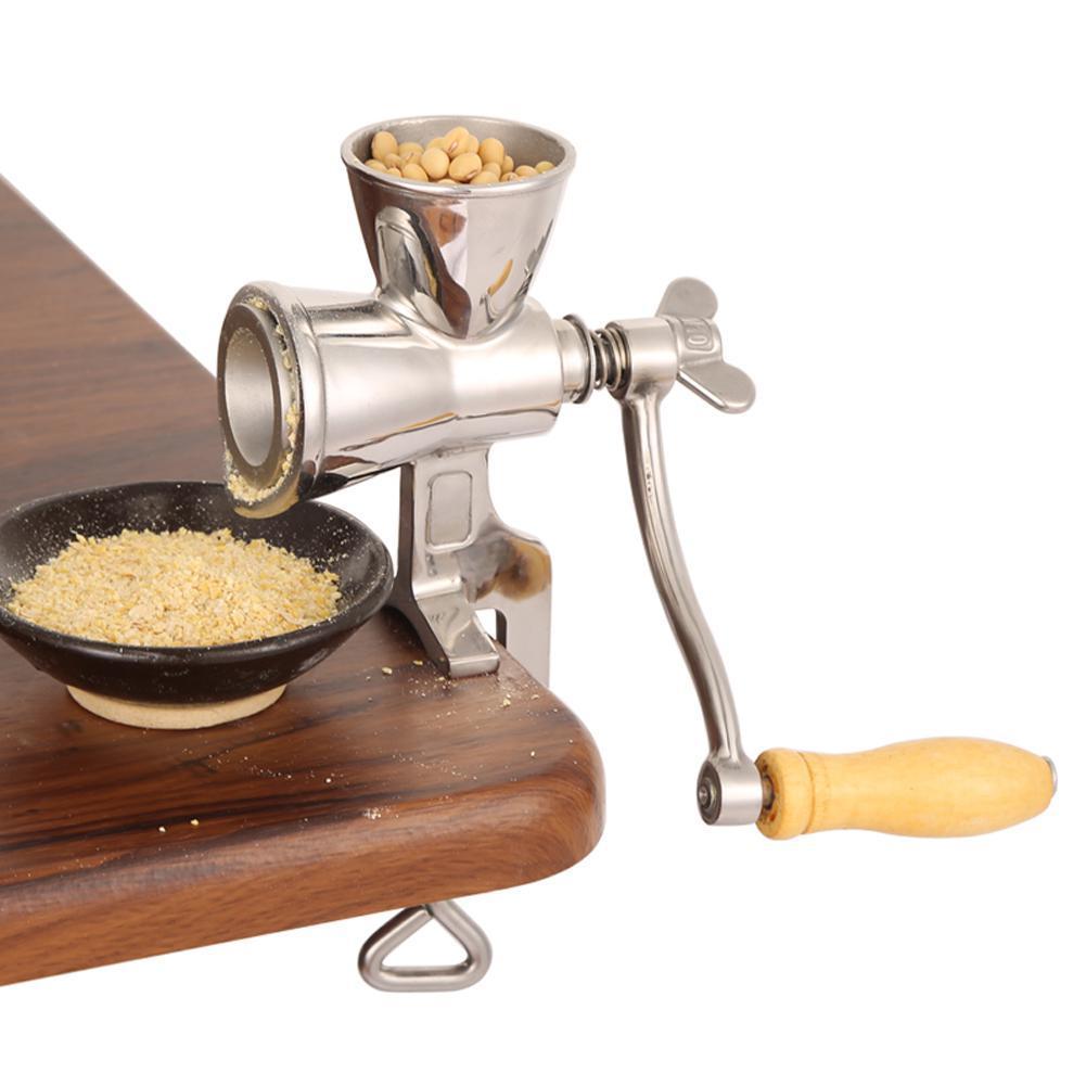 Flour Coffee Stainless Steel Handheld Manual Grain Grinder Wheat Home Kitchen OWF3928