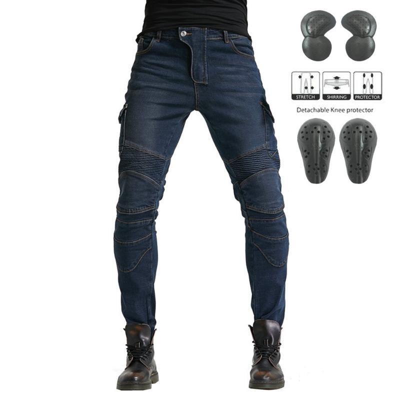 Pantaloni Moto Uomini Motocross Moto Jeans Touring racing pantaloni Ingranaggio protettivo casual Touring Etero equitazione Moto Jeans
